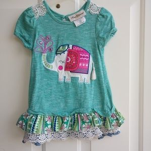 2 pc Elephant Design Toddler Outfit